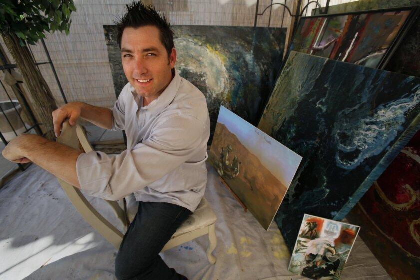Todd Krasovetz in his studio. Peggy Peattie.