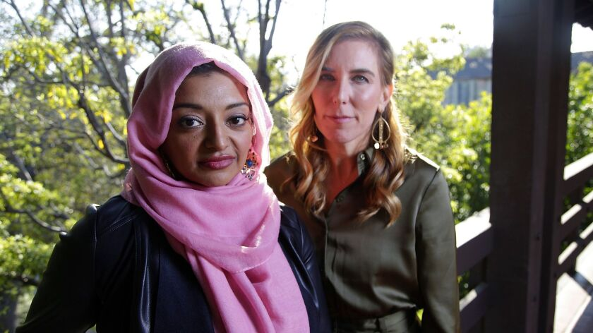 PASADENA, CA., FEBUARY 8, 2019 --(right) Director Amy Berg and Rabia Rabia Chaudry, are the two wome
