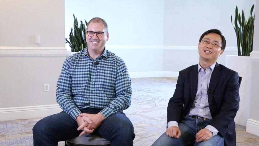 TigerGraph Chief Operating Officer Todd Blaschka, left, and Chief Executive Yu Xu.