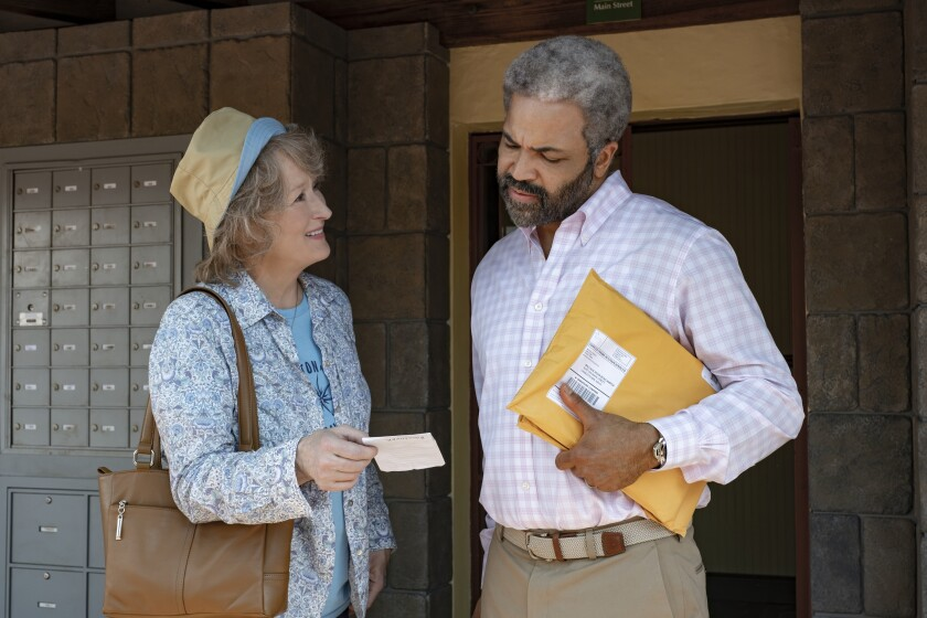 """The Laundromat,"" with Meryl Streep and Jeffrey Wright in the movie, prompts comments from topic to review."