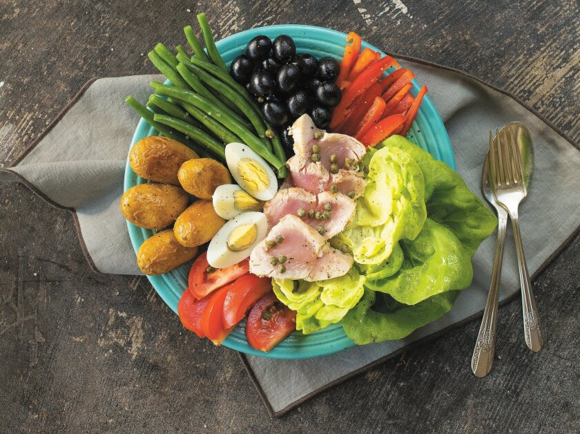 Salade Nicoise with albacore.