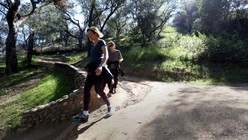 LA CANADA FLINTRIDGE FEBRUARY 28, 2018: The start or in this case the end of the Descanso Trail is a