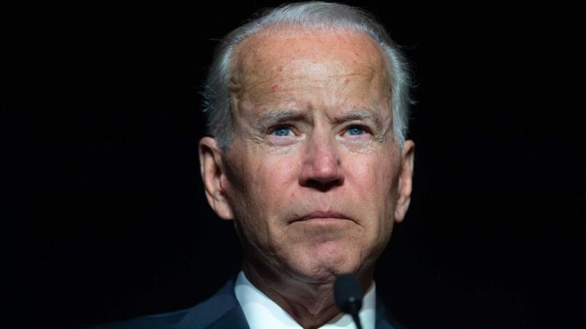 Joe Biden speaks during the First State Democratic Dinner in Dover, Delaware on March 16.