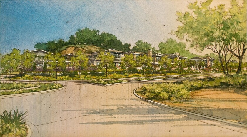 Rendering of the Watermark Del Mar project with 38 housing units. The original design had 48 units.