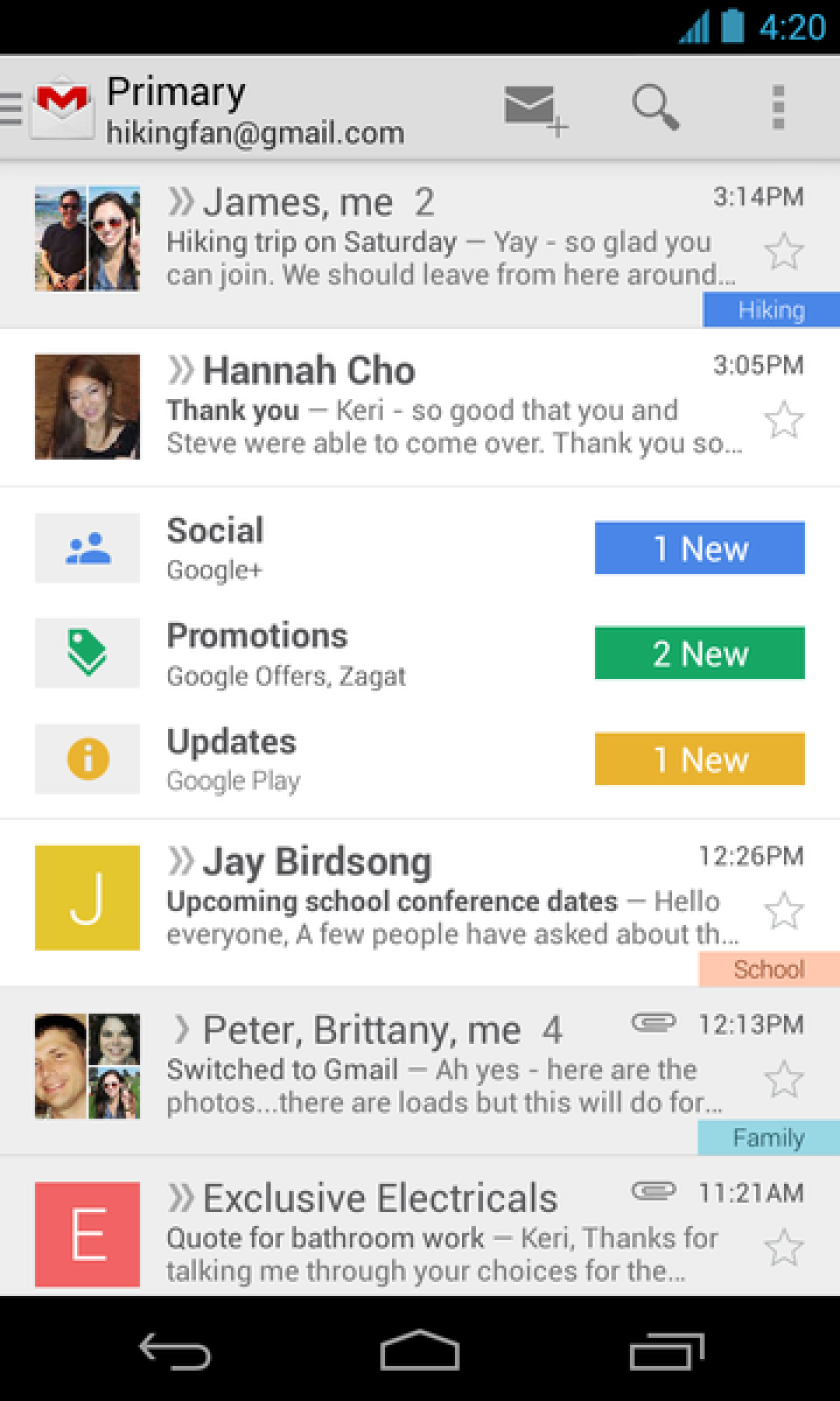 Google aims to ease email overload with new Gmail sorting tabs