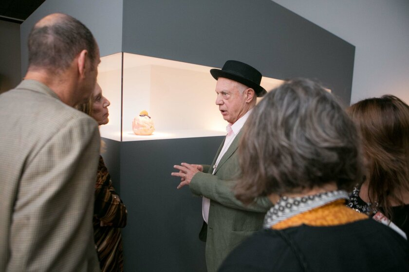Ron Nagle at the opening of his exhibition at the San Diego Museum of Art. Photo: San Diego Museum of Art