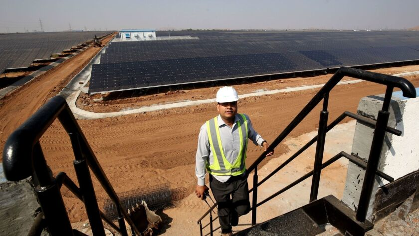 The largest Solar Power Project in Pavagada, Tumkur 170km North from Bangalore, India - 01 Mar 2018