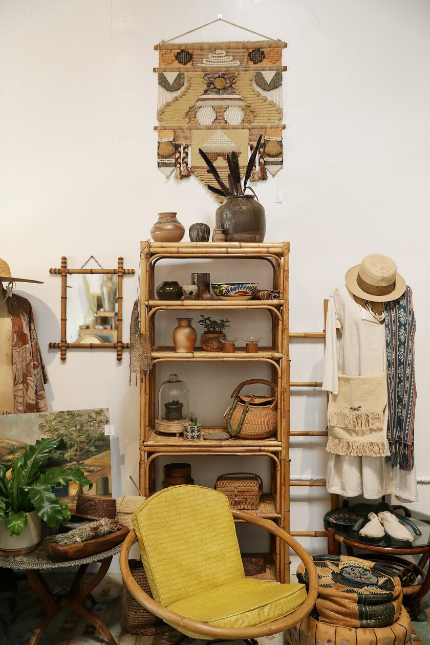 Vintage clothing, ceramics and housewares at Carny Couture in West Adams.