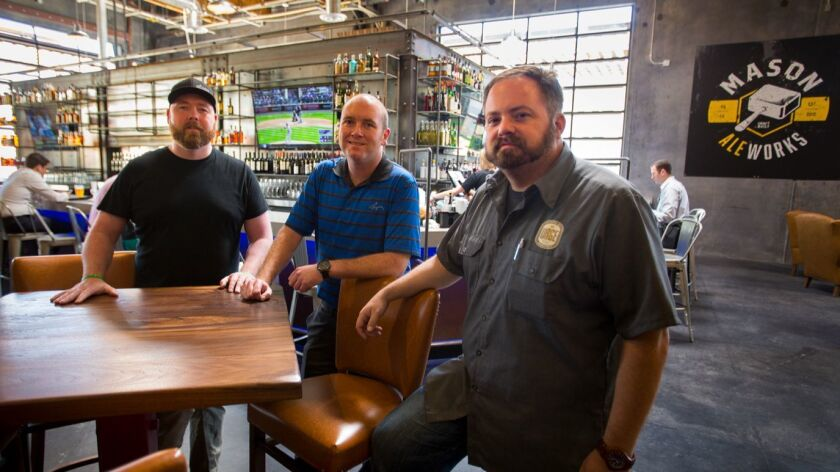 SAN DIEGO, CA: April 12, 2017 | Owners of the The new Urge Gastropub and Common House, Zak Higson,