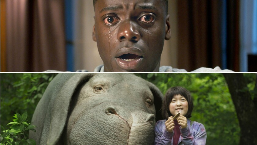 """Get Out,"" top, and ""Okja"" are two of the films that our critics select as the best of 2017 so far."