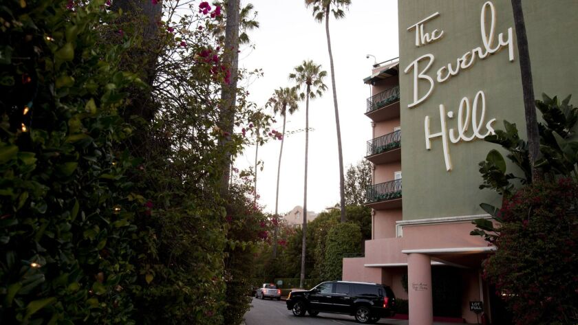 Lawsuit seeks records of Trump's Beverly Hills Hotel bungalow stays