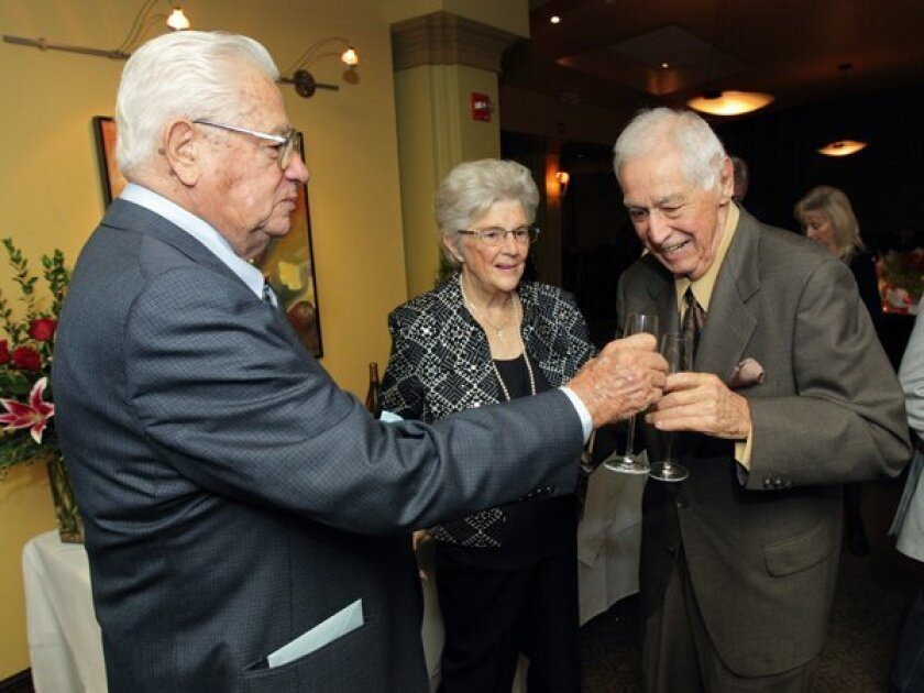 Julius and Marietta Zolezzi toast Lennie Recabaren