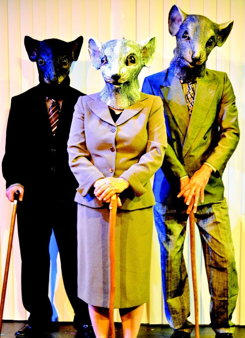 Three Blind Mice — Enron's Board of Directors, as seen in Lucy Prebble's musical 'Enron.'