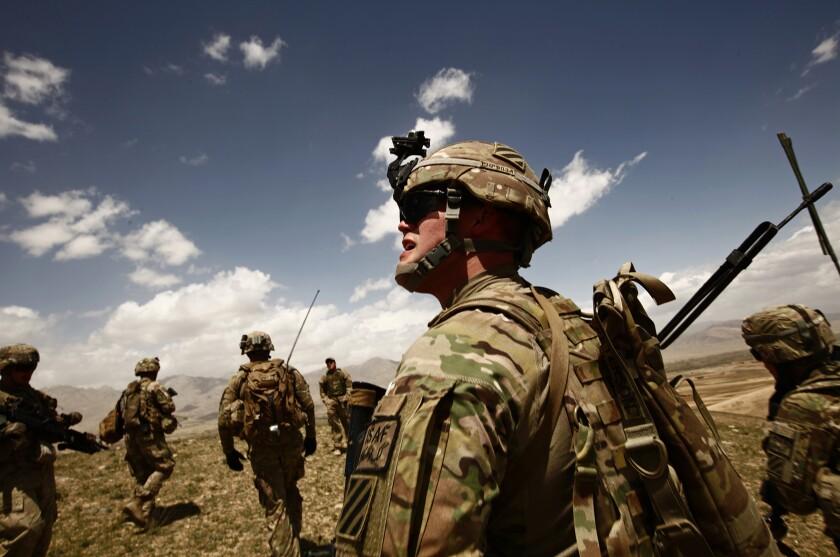 U.S. soldiers on patrol.