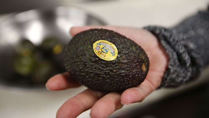 An avocado is seen in a kitchen in Chicago on Sept. 6, 2017.