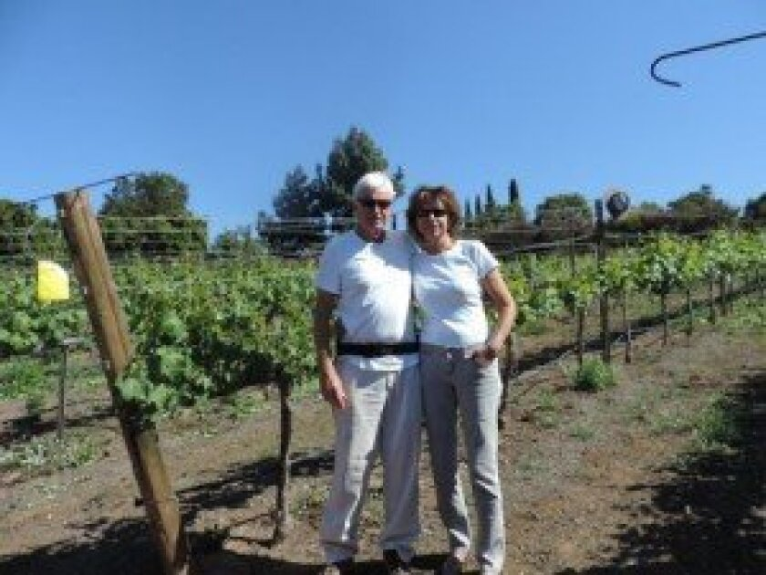 Jocelyn and Colin O'Brien's OBRIEN+OBRIEN wine, produced with Rancho Santa Fe grapes, recently won gold at the San Diego International Wine Competition.