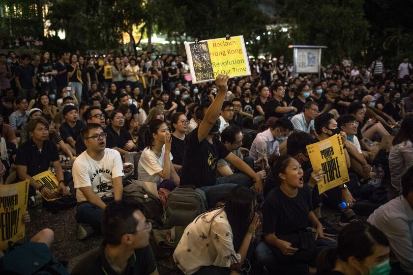 Anti-government rally in Hong Kong
