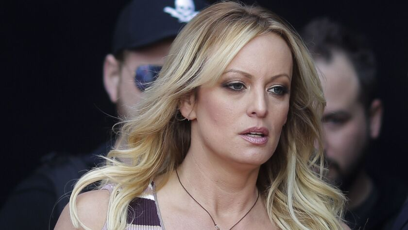 Stormy Daniels in October.