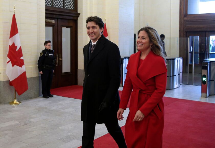 Canadian prime minister and wife