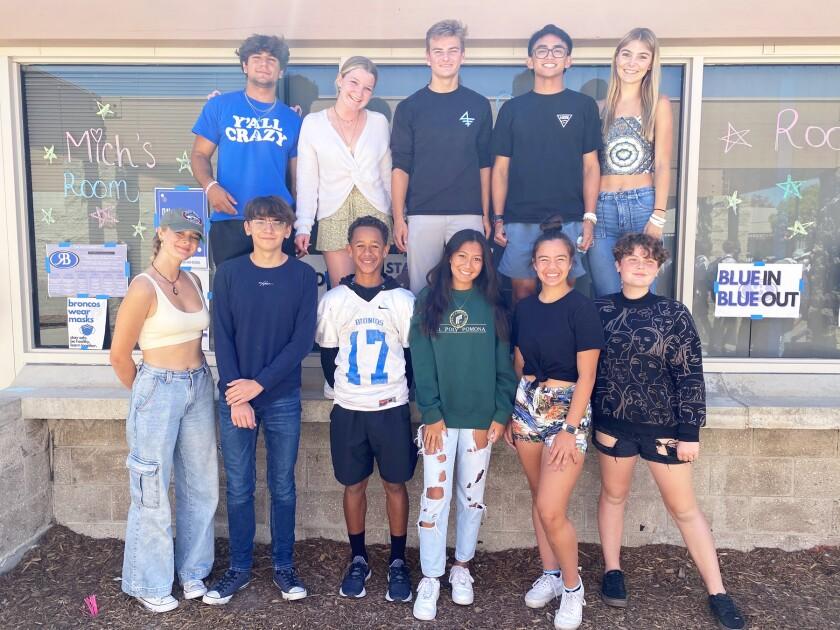 "The 2021 Rancho Bernardo High ""Bronco Olympics"" homecoming court."