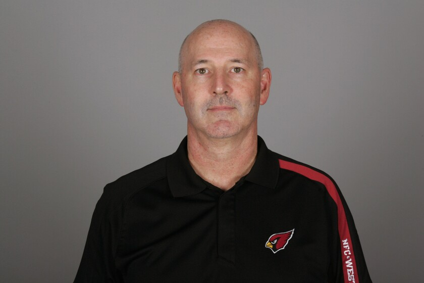 Former USC assistant Rick Courtright while with the Arizona Cardinals in 2010.