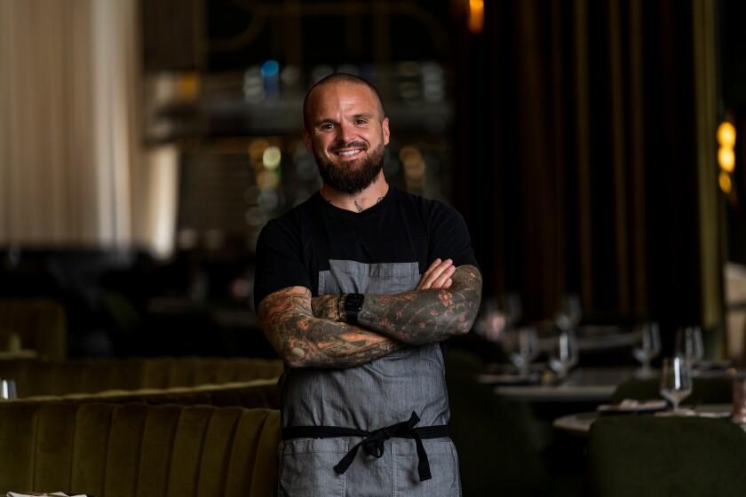 Nate Appleman at Animae restaurant in San Diego