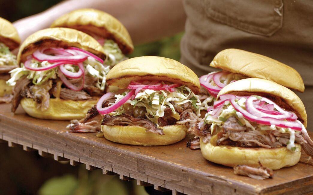 First-timer's pork shoulder sandwiches
