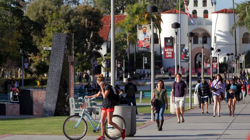 Cosmopolitan magazine has decided that San Diego State University is the nation's 10th prettiest college.