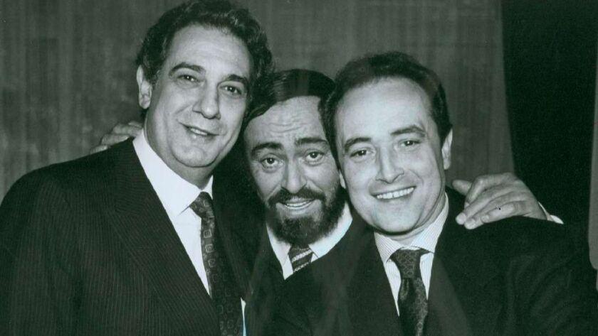 Opera stars (from left) Plácido Domingo, Luciano Pavarotti and José Carreras were known as the Three Tenors.