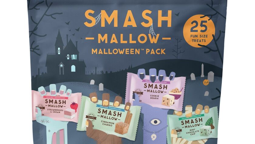 Smash Variety Natural marshmallow brand Smashmallow has a Halloween-themed pack of single-serving ma