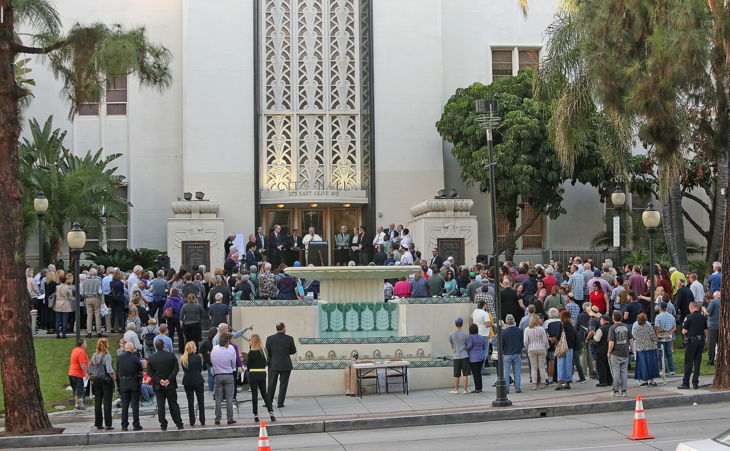 Photo Gallery: Vigil of Healing on Burbank City Hall steps for eleven killed in Pittsburgh Synagogue