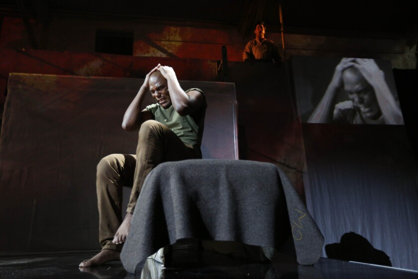 "Bass-baritone LaMarcus Miller is the battle-scarred Philip in the Long Beach Opera's ""Fallujah."""