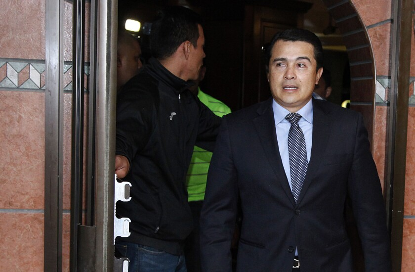 Brother of Honduran president convicted in U.S. of drug conspiracy