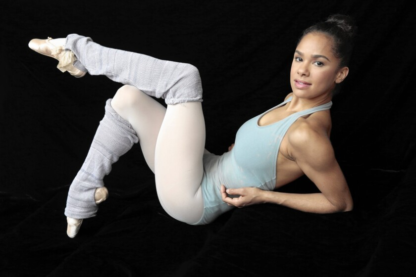 Prima ballerina Misty Copeland of American Ballet Theatre says she was once told she shouldn't pursue ballet.