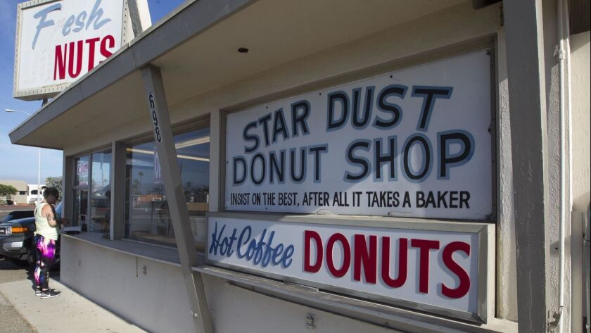 IMPERIAL BEACH, CA.- AUGUST 30, 2018,- Star Dust donut shop in Imperial Beach is a family business that has been in business for 50 years. Owner Cliff Arnold starts his day at 12:30 am making donuts for the days sale and closes up at noon, five days a week. ©2018