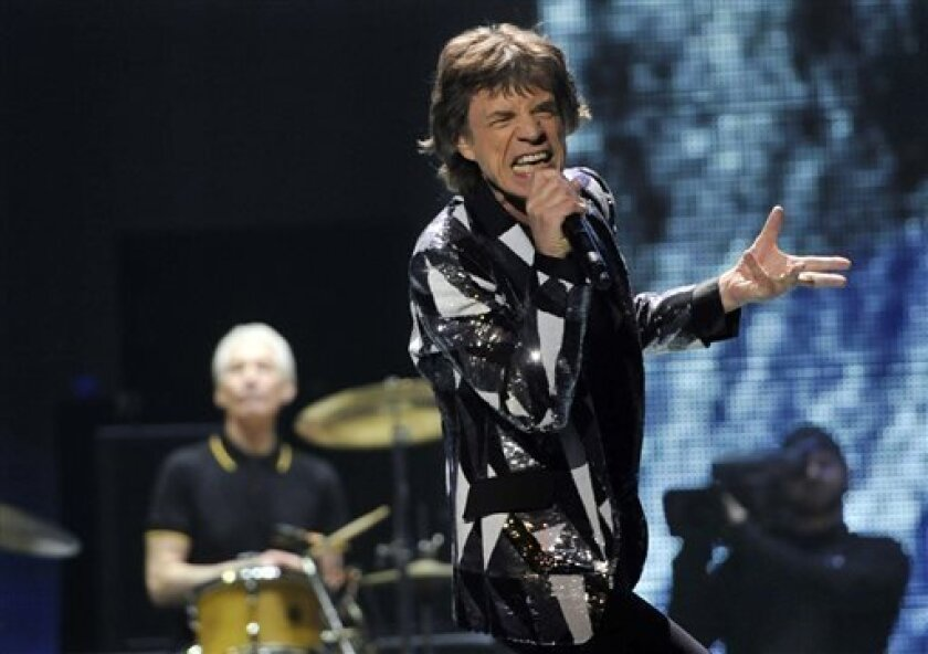 """Sir Michael Philip """"Mick"""" Jagger, OBE, will not be performing with the San Diego Symphony Summer Pops, nor will any of the other Rolling Stones, but """"Satisfaction"""" is still guaranteed in the pops' """"Music of the Rolling Stones"""" concerts."""