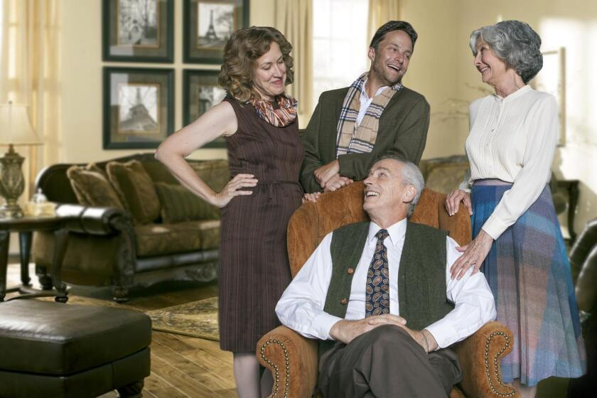 The cast of the boisterous comedy 'The Cocktail Hour' at North Coast Repertory Theatre.