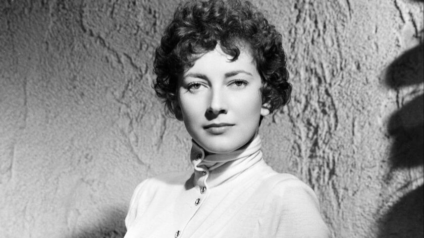 FILE - Italian film actress Valentina Cortese is shown in Italy in Jan. 1949. The renown actress, wh