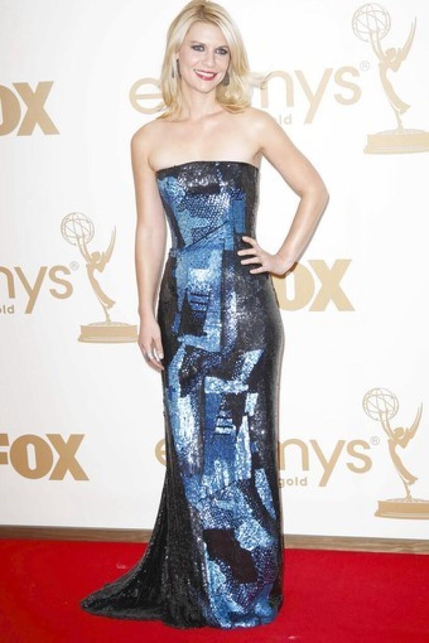 Claire Danes was cool in blue Oscar de la Renta at last year's Emmys.