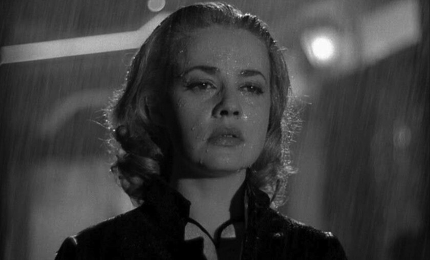 "Legendary actress Jeanne Moreau in a scene from Louis Malle's 1958 French New Wave noir ""Elevator to the Gallows."""