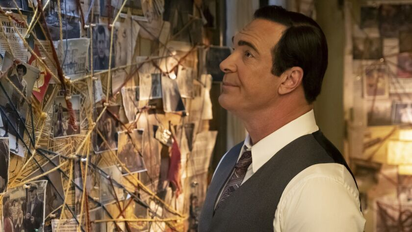 """Patrick Warburton as Lemony Snicket in the Netflix series """"A Series of Unfortunate Events."""""""