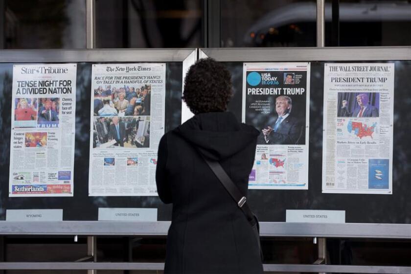 El 25 % de los ciudadanos del país no distingue entre las noticias y los artículos de opinión publicados en los medios, según un estudio publicado hoy por el centro de investigación Pew. EFE/ARCHIVO