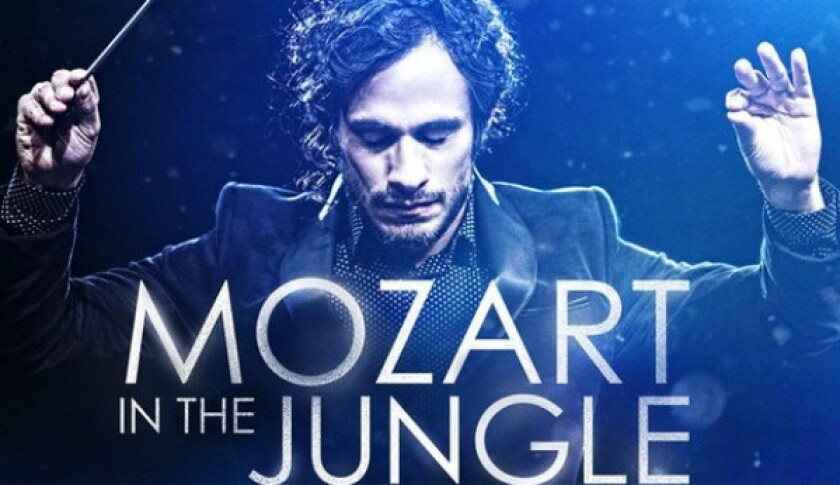 """Gael Garcia Bernal plays a young, charismatic conductor in Amazon's pilot episode of """"Mozart in the Jungle,"""" which has been picked up as a full series."""