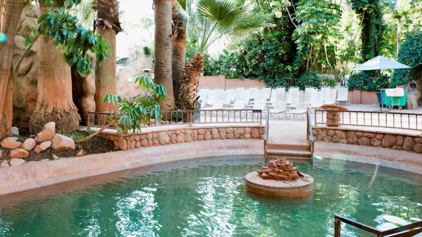 One of the 19 pools at Glen Ivy Hot Springs in Corona.