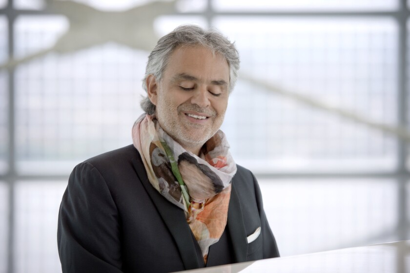 """Bocelli returns to the MGM Grand Garden Arena on Dec. 5 as part of his fall release, """"Cinema."""""""