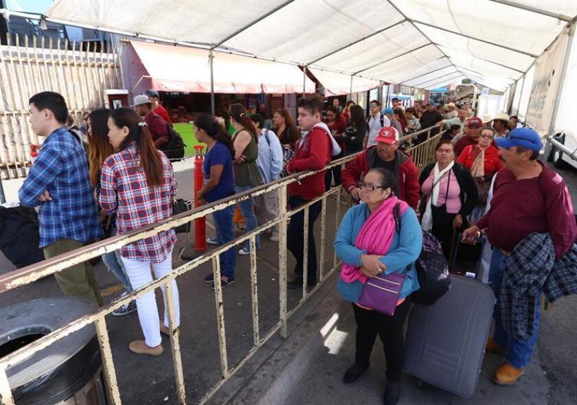 El Departamento de Seguridad Nacional (DHS, en inglés) anunció hoy que expandirá a un segundo puesto fronterizo en California, el de Calexico, el programa piloto de devolución de solicitantes de asilo a México, a la espera de que la Justicia resuelva sus casos. EFE/Archivo