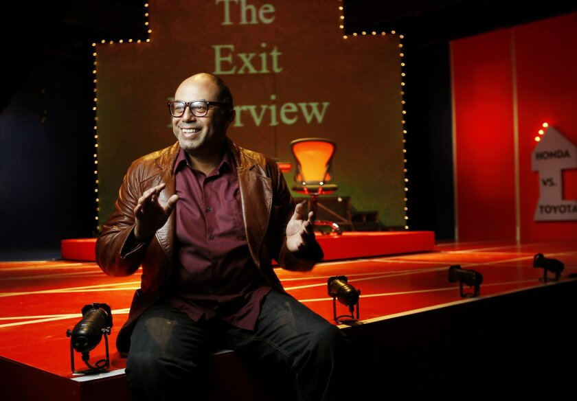 "Herbert Siguenza is starring in San Diego Rep's ""The Exit Interview"" as well as serving an artistic residency at the downtown theater."