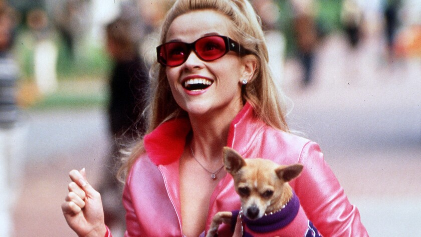"""Reese Witherspoon as Elle Woods in the 2001 comedy """"Legally Blonde."""""""
