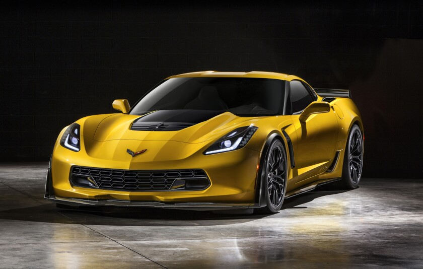 "The 2015 Chevrolet Corvette Z06 will have ""at least"" 625 horsepower and 635 pound-feet of torque from a 6.2-liter supercharged V-8 engine. Other highlights include either a seven-speed manual transmission or an eight-speed automatic, as well as a removable roof panel, a first for the Z06."