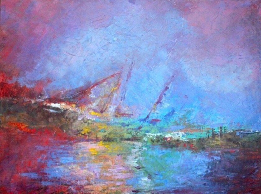 """""""Ghost Ship,"""" oil on canvas, 18"""" x 24,"""" by Connie McCoy"""
